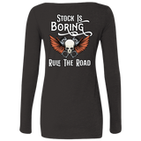 Stock Is Boring Ladies Long Sleeve Scoop Neck T-Shirt