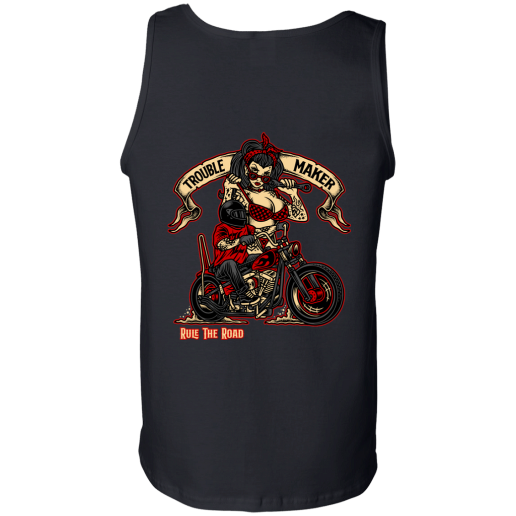 Troublemaker Motorcycle Mens Tank Top