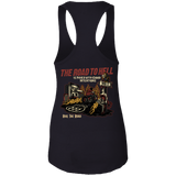 The Road To Hell Motorcycle Ladies Ideal Racerback Tank Top