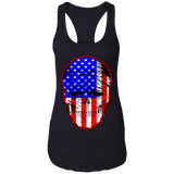 USA Skull Ladies Ideal Racerback Tank Top