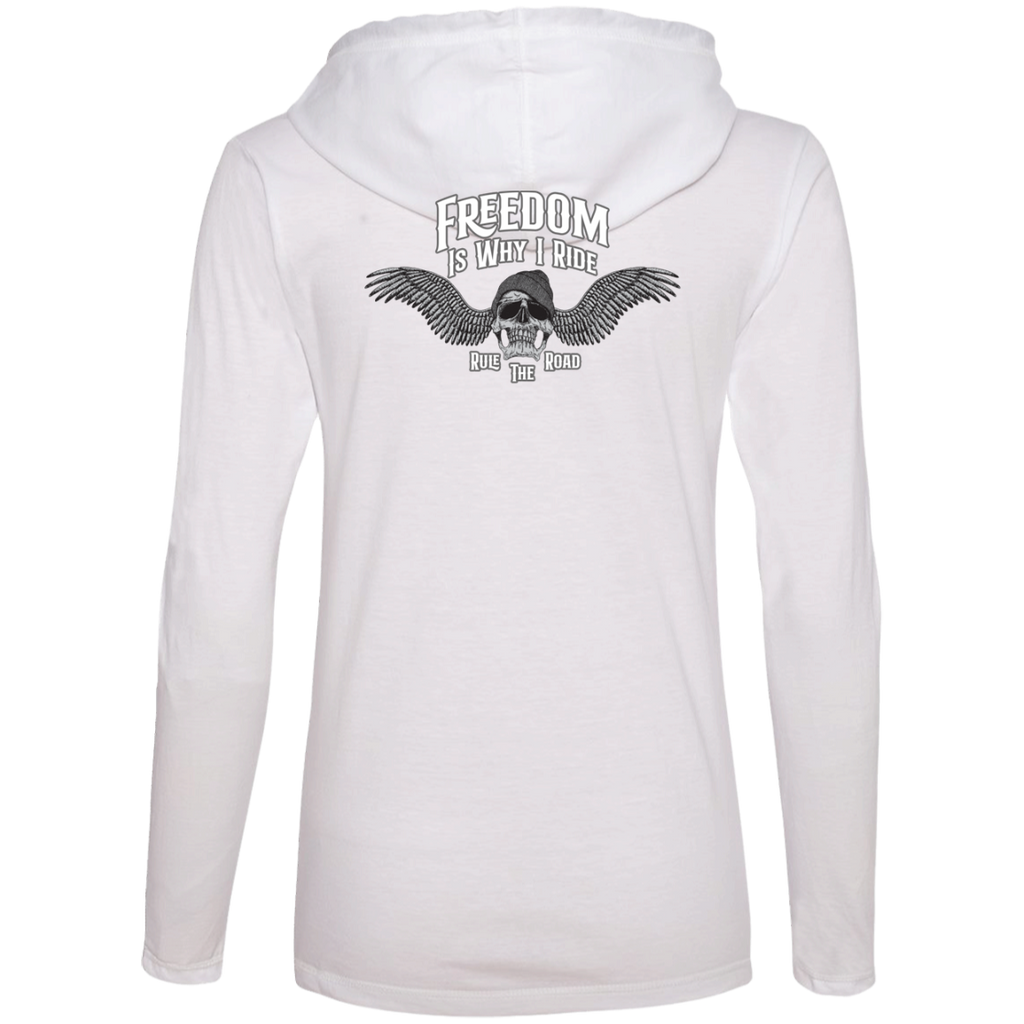 Freedom Is Why I Ride Ladies Long Sleeve T-Shirt Hoodie