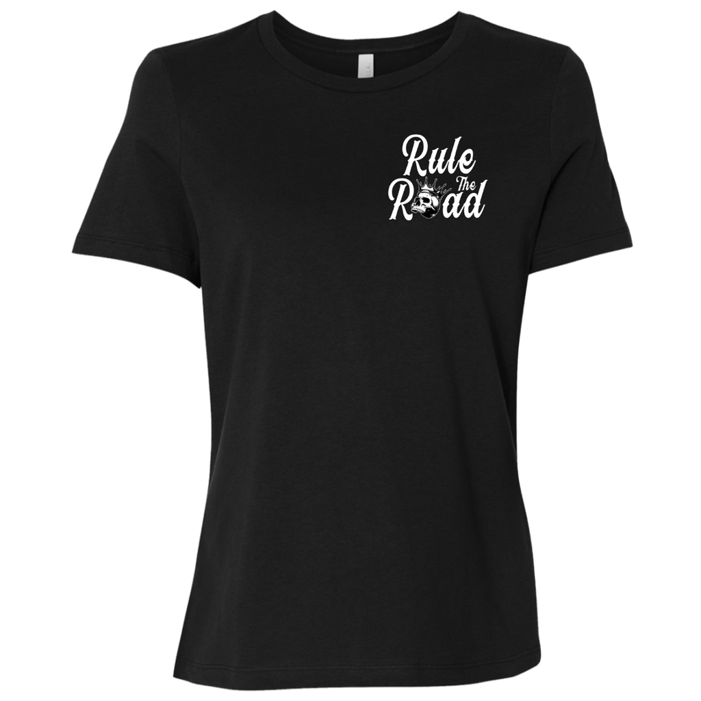 Loud Pipes Save Lives Reaper Ladies Relaxed Fit Short Sleeve T-Shirt