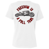 Freedom Is A Full Tank Hot Rod Ladies Relaxed Fit Short Sleeve T-Shirt