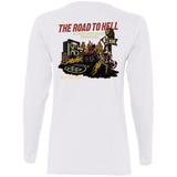 The Road To Hell Motorcycle Ladies Long Sleeve T-Shirt