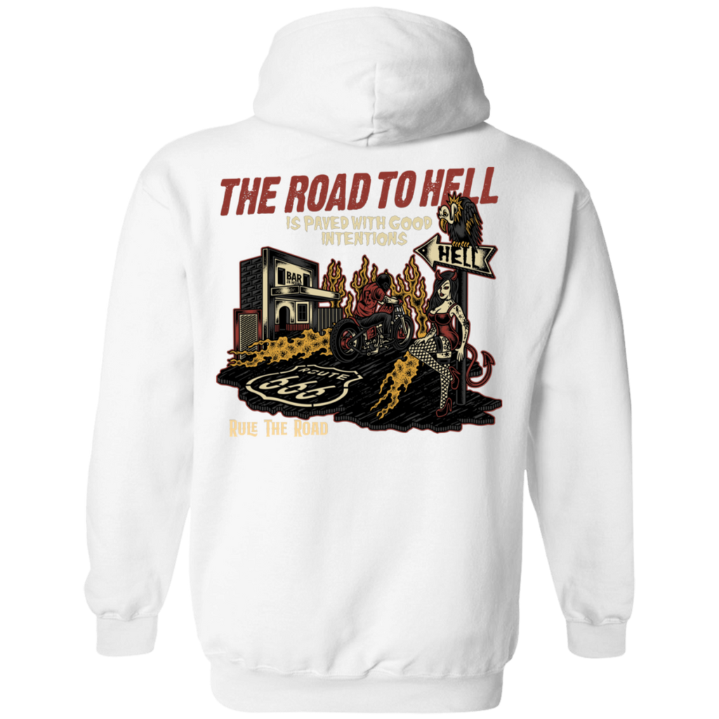 The Road To Hell Motorcycle Pullover Hoodie