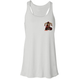 Troublemaker Motorcycle Ladies Flowy Racerback Tank