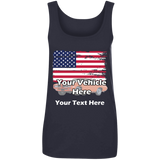 American Flag Personalized Women's Scoopneck Tank Top