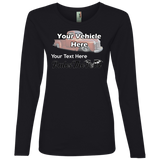 Rule The Road Winged Wheel Personalized Women's Long Sleeve T-Shirt