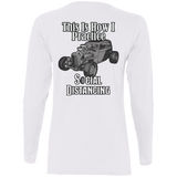 Social Distancing Classic Car Ladies Long Sleeve T-Shirt