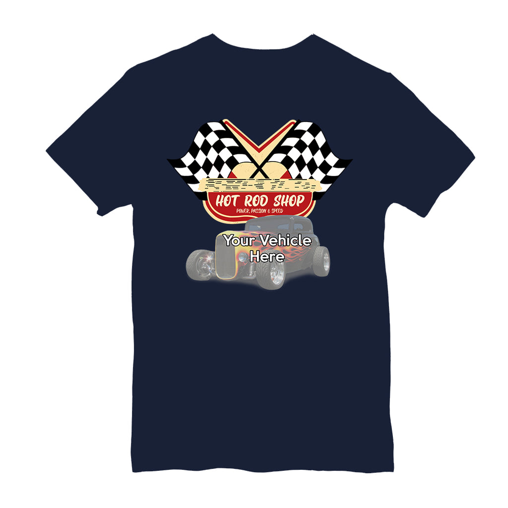 Hot Rod Shop Personalized Short Sleeve T-Shirt
