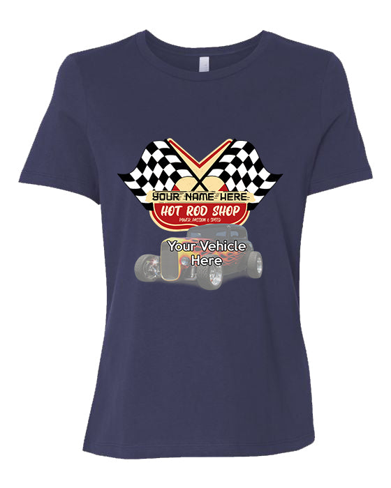 Hot Rod Shop Personalized Women's Short Sleeve T-Shirt