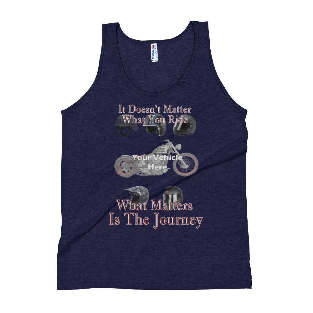 It Doesn't Matter What You Ride Personalized Men's Tank Top