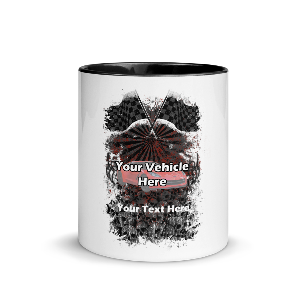 Checkered Flags Personalized Mug