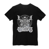 Grim Reaper Personalized Short Sleeve T-Shirt With Custom Text And Your Image