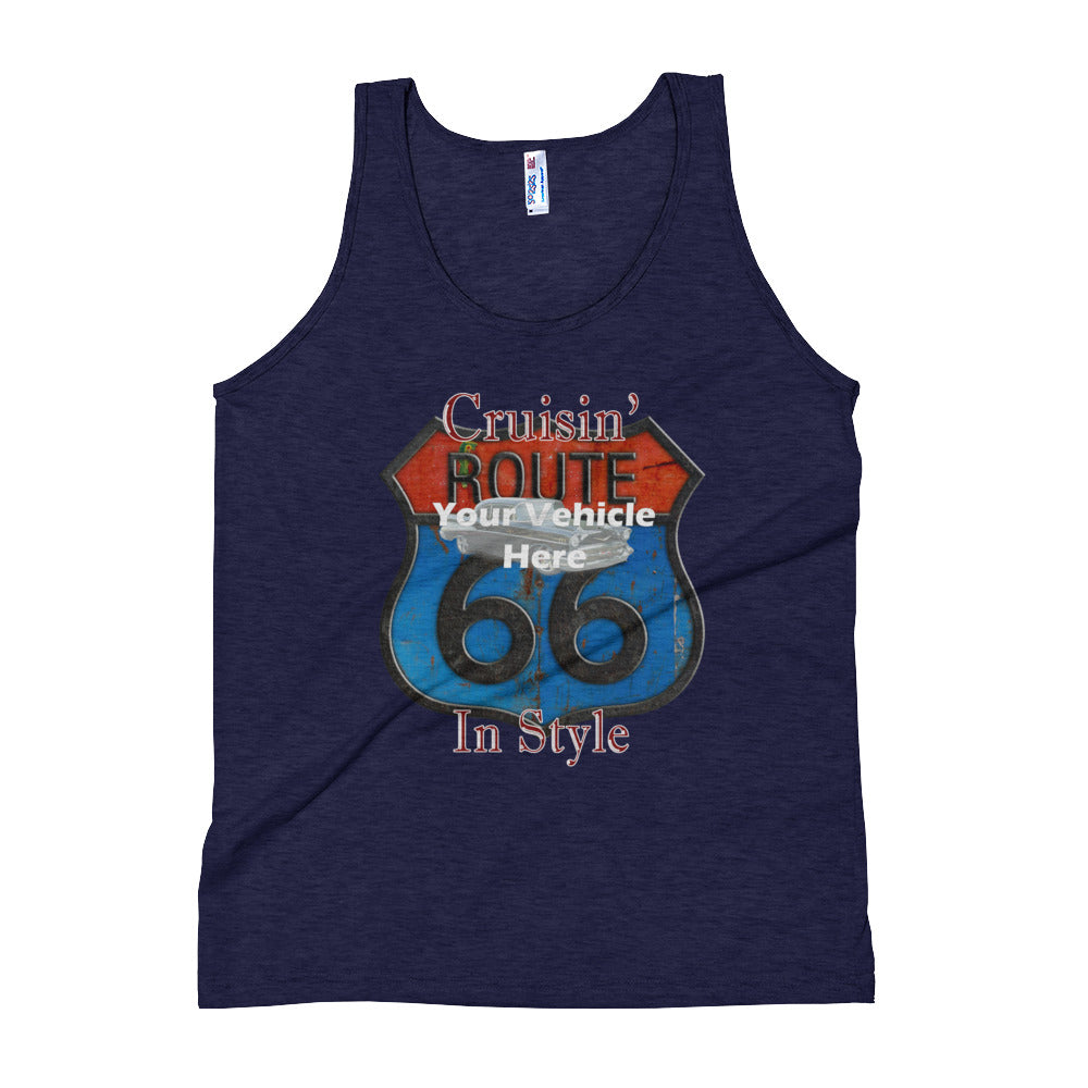 Cruisin' Route 66 Personalized Men's Tank Top