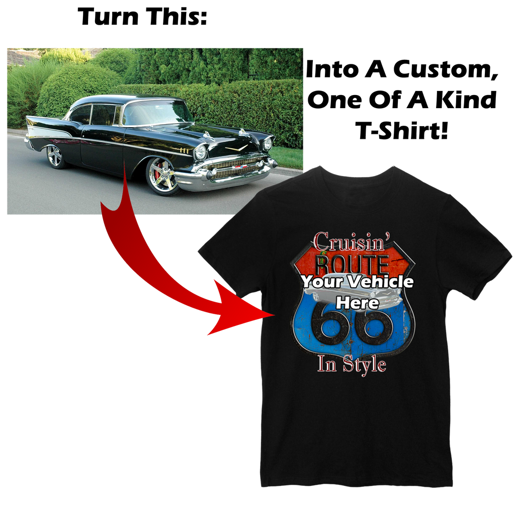 Cruisin' Route 66 Personalized Short Sleeve T-Shirt