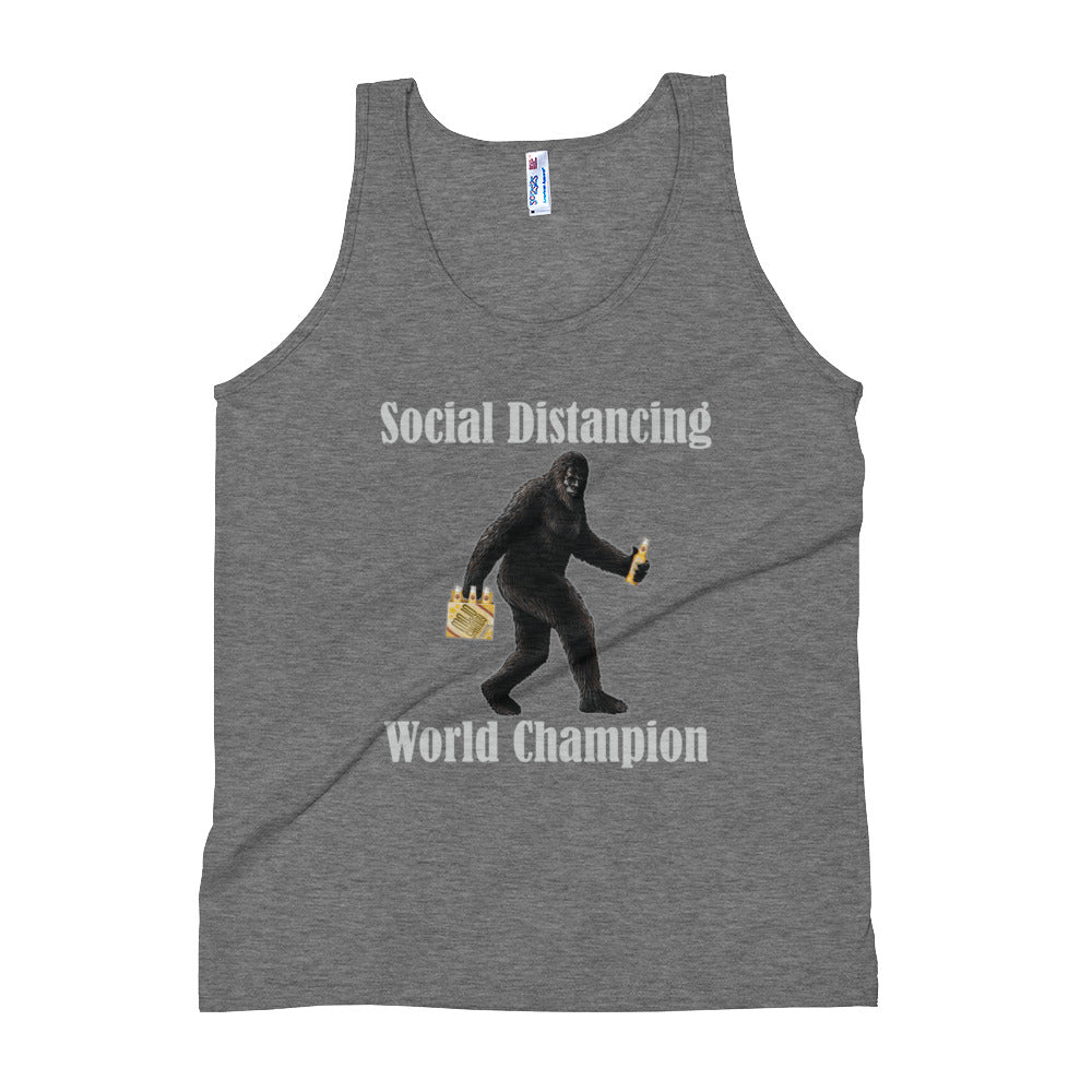 Social Distancing World Champion Men's Tank Top