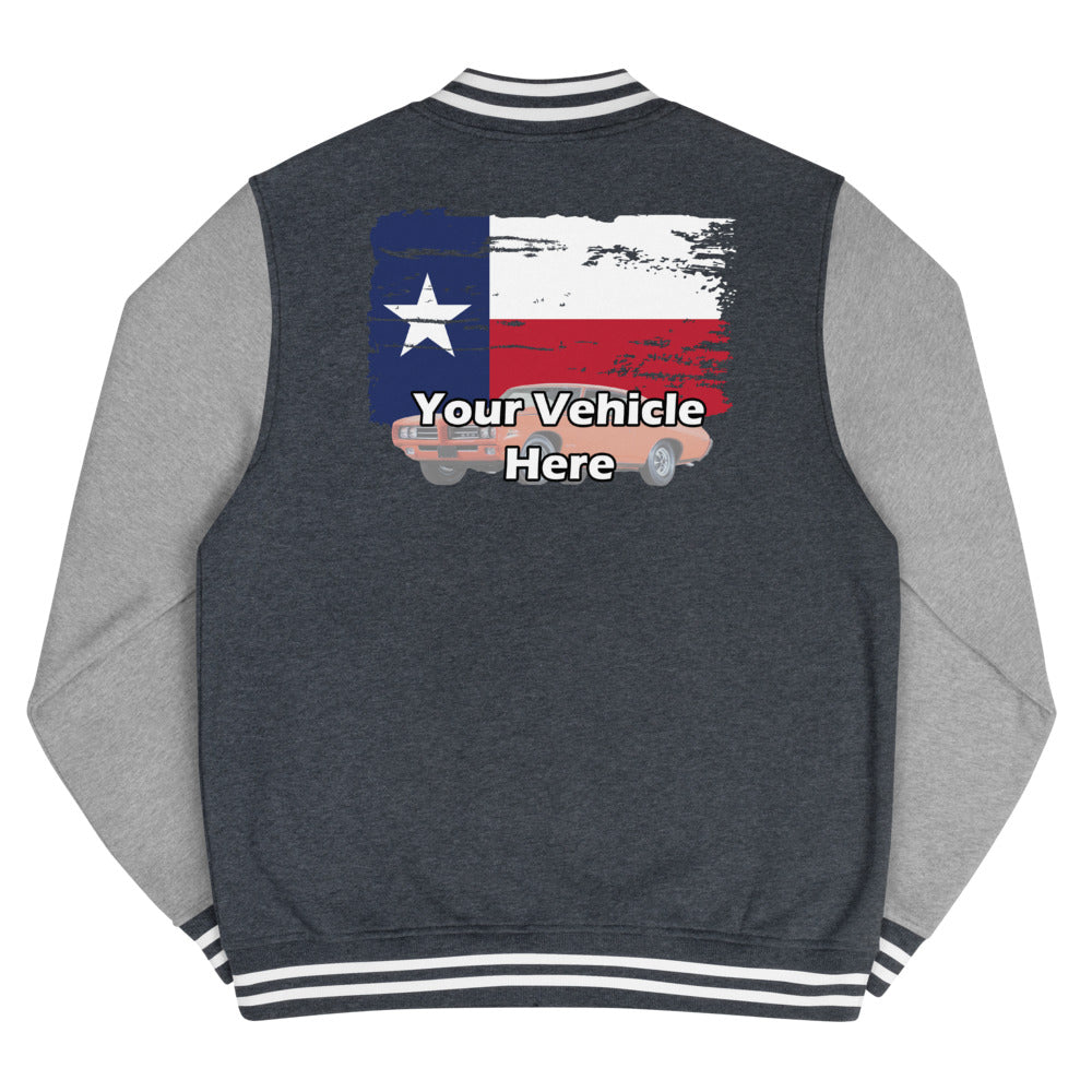 Texas Flag Personalized Women's Letterman Jacket