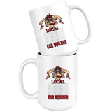 Support Your Local Car Builder Custom Personalized Mug, 15 oz.