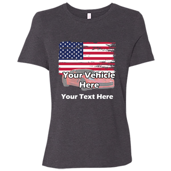 American Flag Personalized Women's Short Sleeve T-Shirt