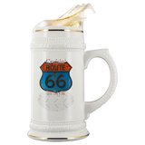 Cruisin' Route 66 Custom Personalized Beer Stein