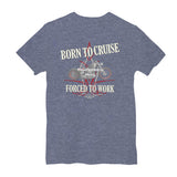 Born To Cruise, Forced To Work Personalized Short Sleeve T-Shirt
