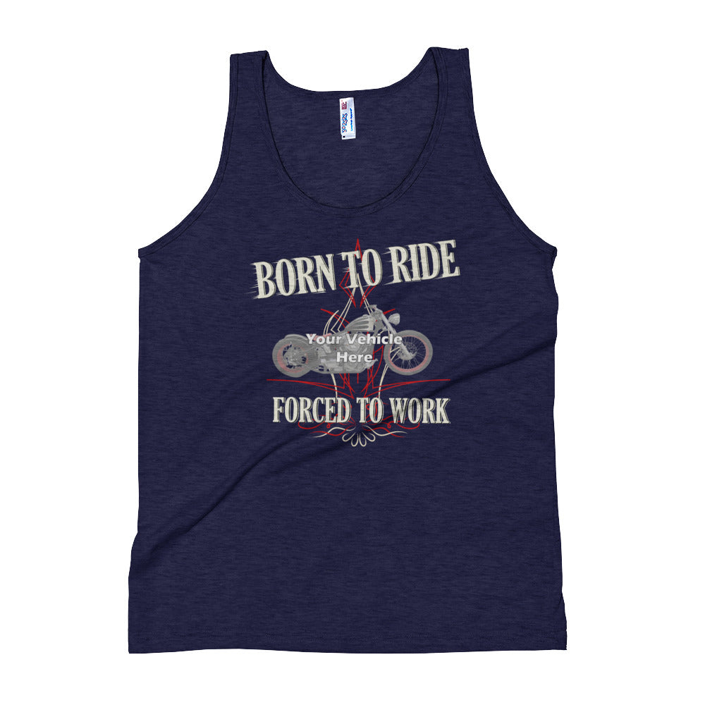 Born To Ride, Forced To Work Personalized Women's Tank Top
