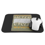 Dad's Garage Motorcycle Shop Custom Personalized Mousepad