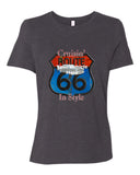 Cruisin' Route 66 Personalized Women's Short Sleeve T-Shirt