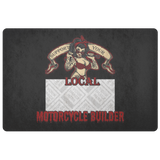 Support Your Local Motorcycle Builder Custom Personalized Doormat