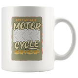 My Garage Motorcycle Shop Custom Personalized Mug, 11 oz.