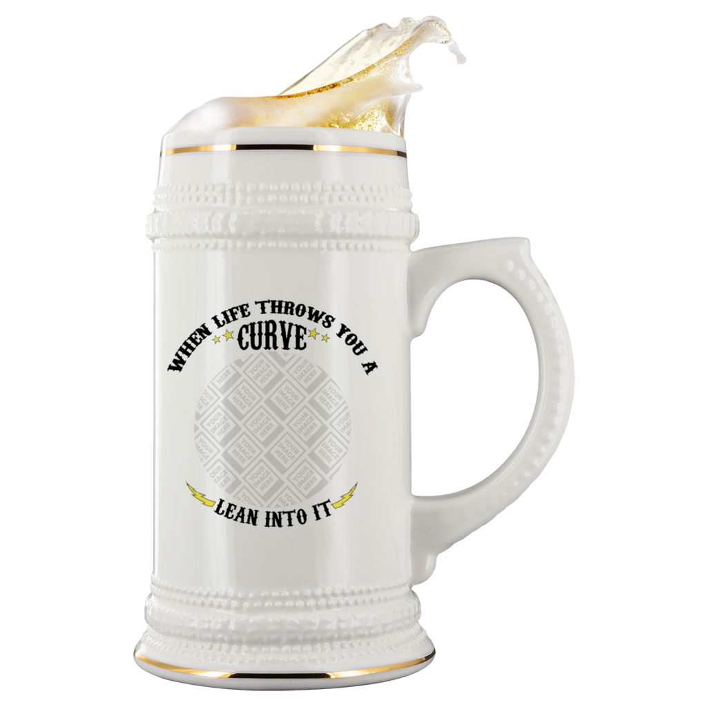 When Life Throws You A Curve Custom Personalized Beer Stein
