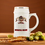 Support Your Local Motorcycle Builder Custom Personalized Beer Stein