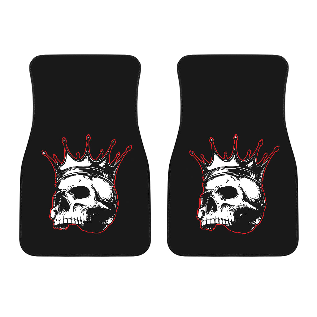 Rule The Road Skull Front Floor Mats (Pair)