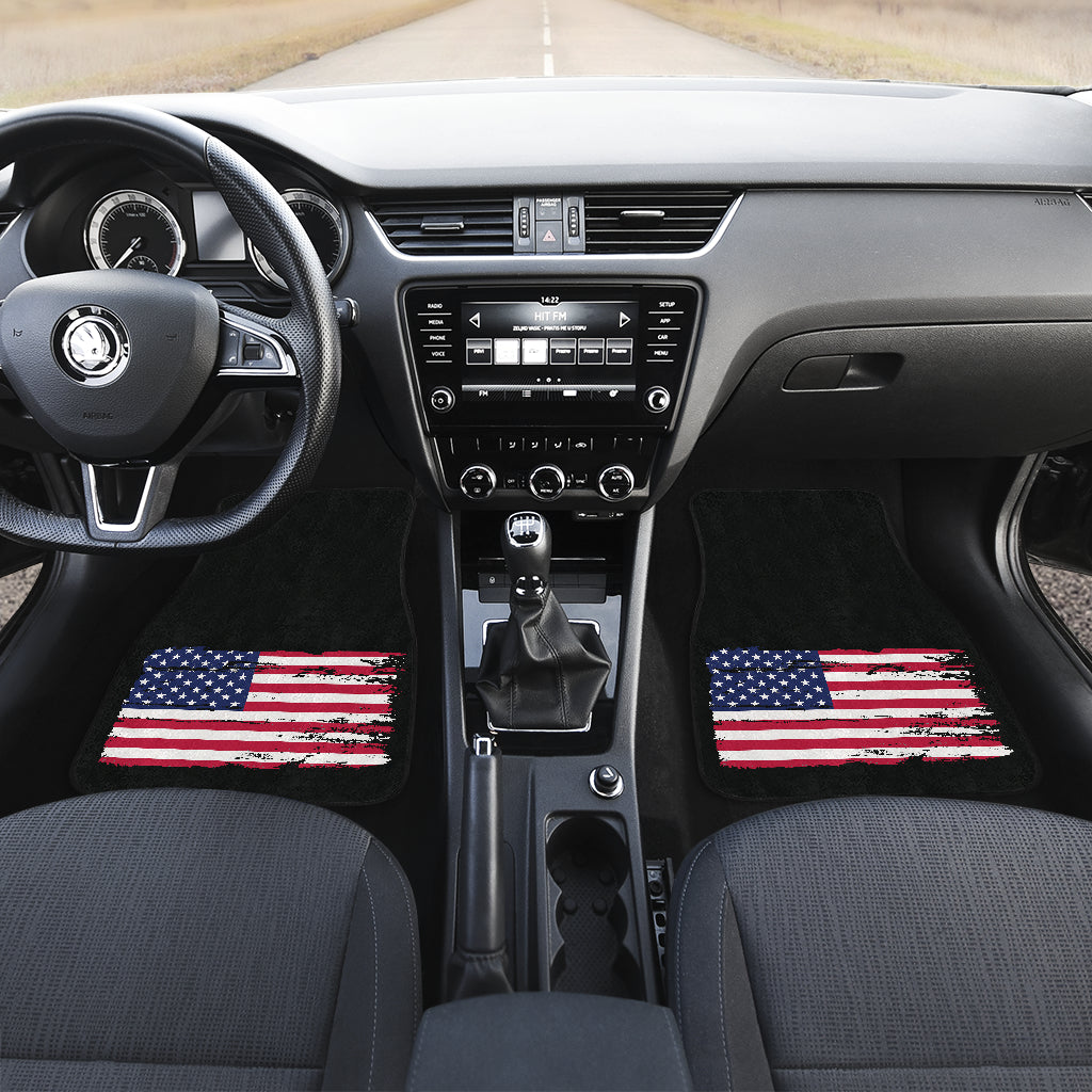 American Flag Front and Rear Floor Mat Set (4)