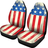 Worn American Flag Universal Car Seat Covers (Pair)