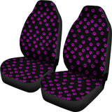 Purple Paw Prints Universal Car Seat Covers (Pair)