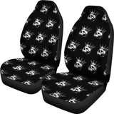 Rule The Road Skull Pattern Universal Car Seat Covers (Pair)