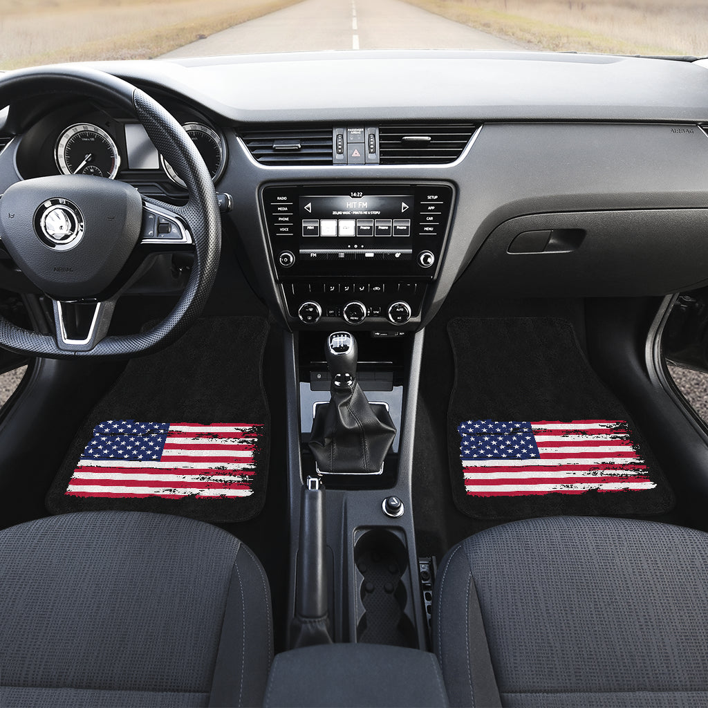 American Flag Front Floor Mats (Pair)