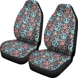 Peace Signs Universal Car Seat Covers (Pair)
