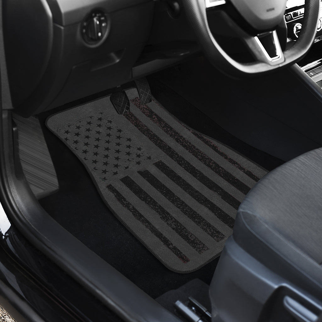 Black Flag Front and Rear Floor Mat Set (4)