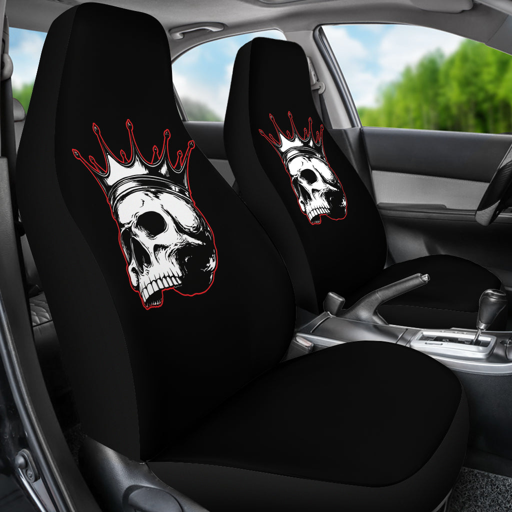 Rule The Road Skull Universal Car Seat Covers (Pair)