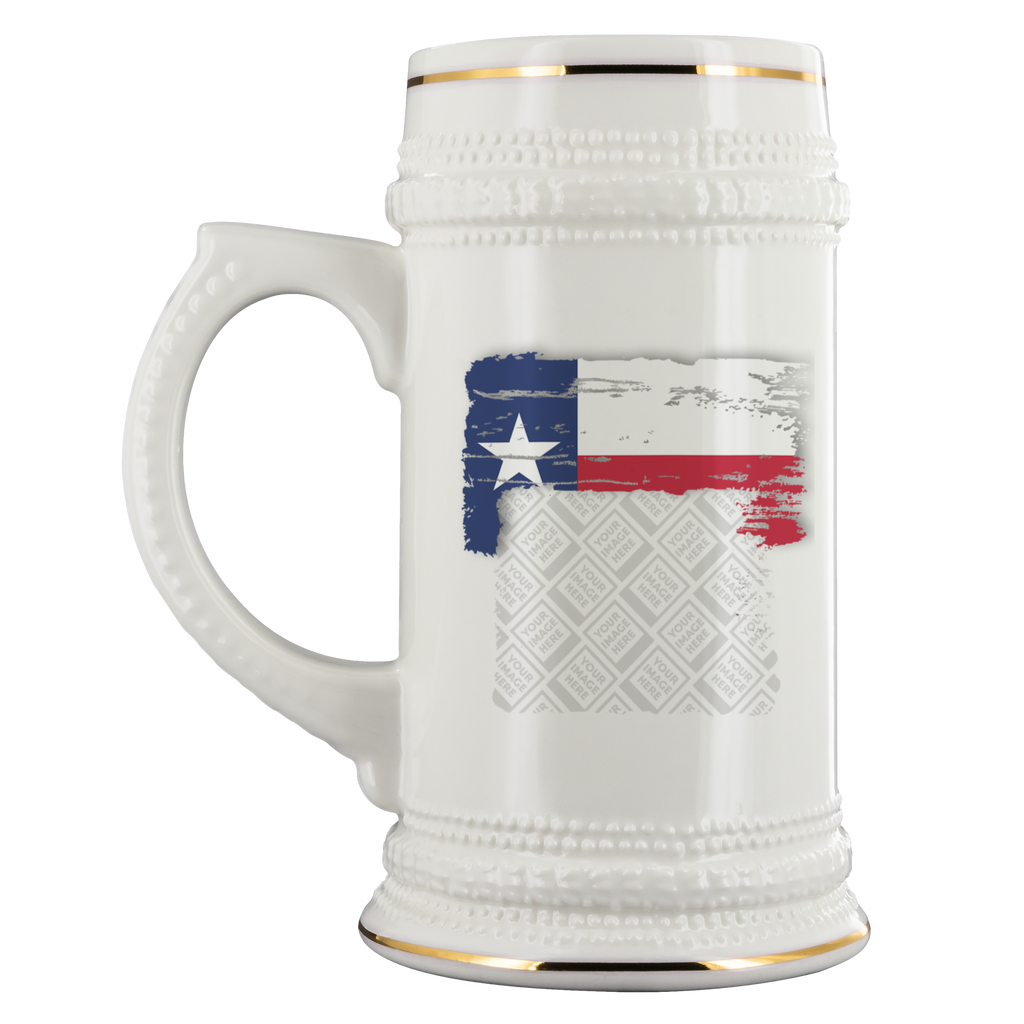 Texas Flag Custom Personalized Beer Stein