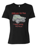 Flip Me Over Personalized Women's Short Sleeve T-Shirt