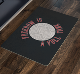 Freedom Is A Full Tank Custom Personalized Doormat