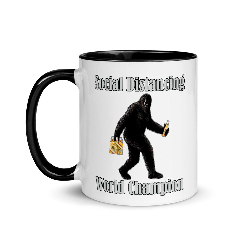 Social Distancing World Champion Personalized Mug