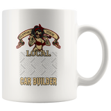 Support Your Local Car Builder Custom Personalized Mug, 11 oz.