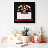 Support Your Local Motorcycle Builder Custom Personalized Canvas Artwork