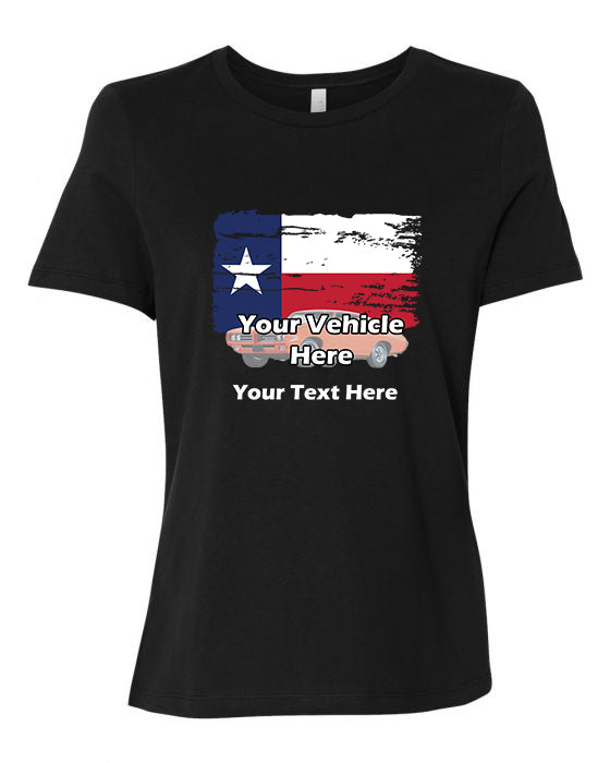 Texas Flag Personalized Women's Short Sleeve T-Shirt
