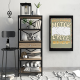 Dad's Garage Motorcycle Shop Custom Personalized Canvas Artwork